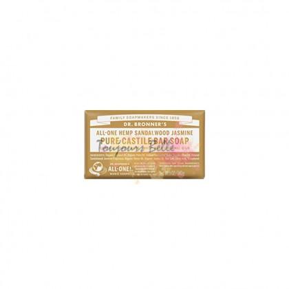 DR BRONNER'S Pure Castile Bar Soap - Sandalwood Jasmine 美国纯卡斯蒂利亚皂块(茉莉花檀)140g