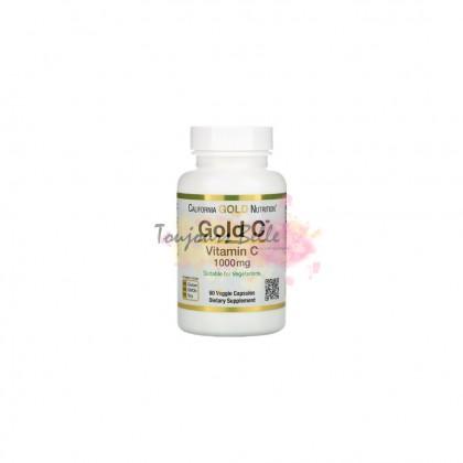 CALIFORNIA GOLD NUTRITION Gold C Vitamin C 1000mg Veggie Capsules 60 Count 1000毫克维他命C【60颗】